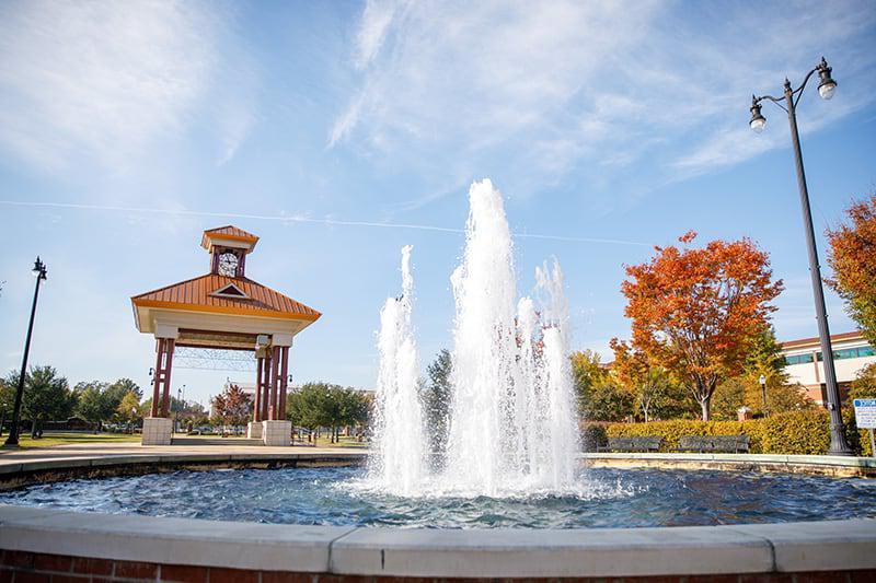 塔斯卡卢萨政府广场的喷泉